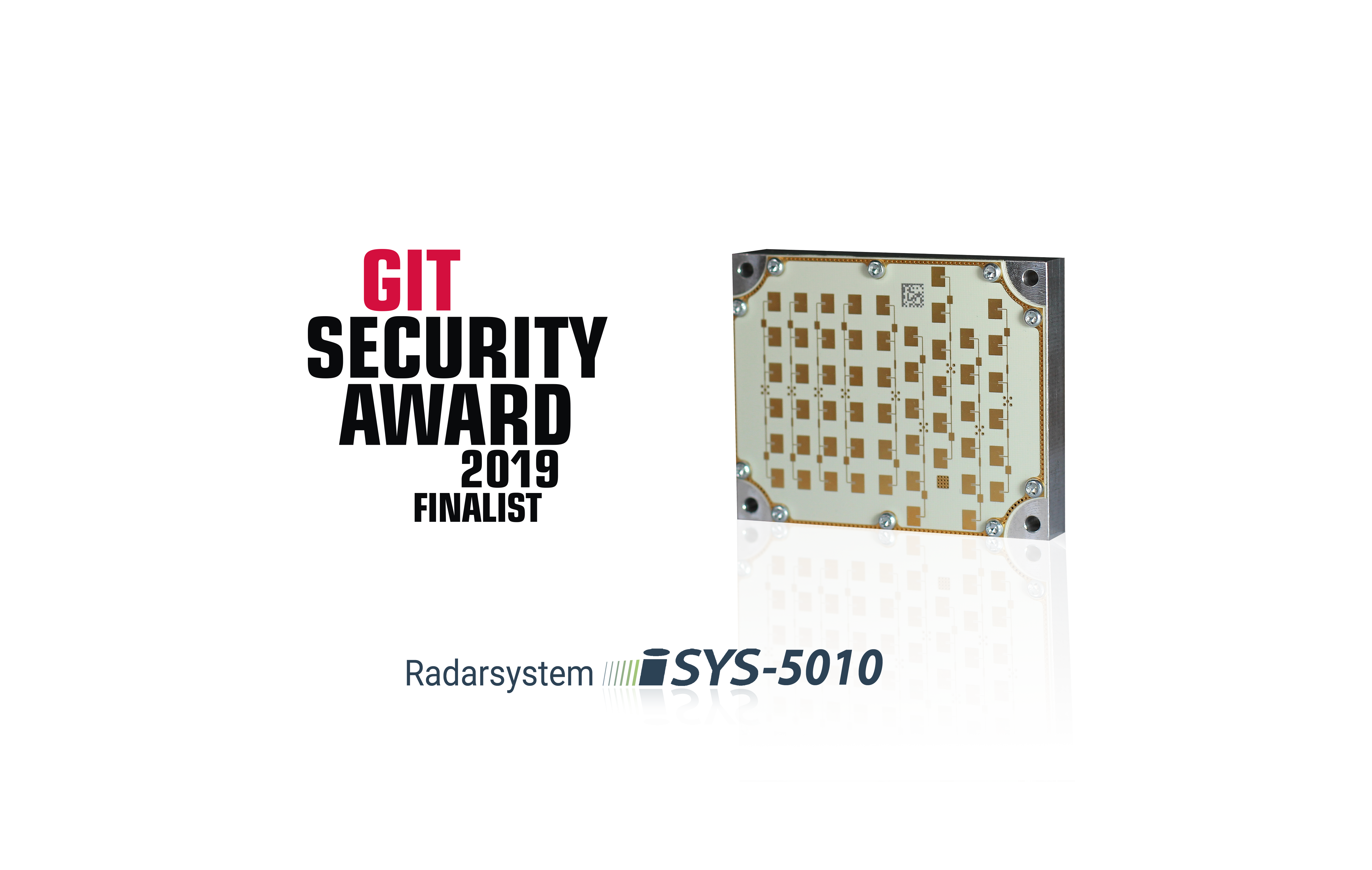The radar system iSYS-5010 is nominated as Finalist at the GIT SECURITY Award.