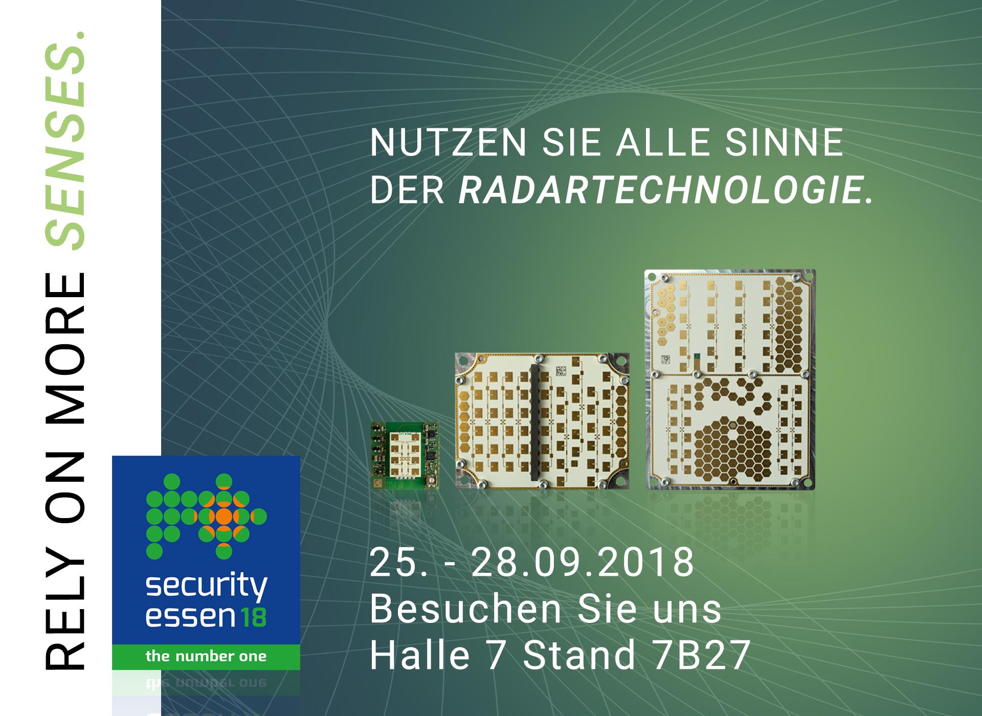 InnoSenT auf der Security 2018 in Essen