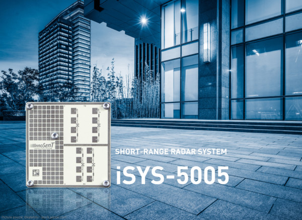 The New short range radar system iSYS-5005 for door opener and security applications.